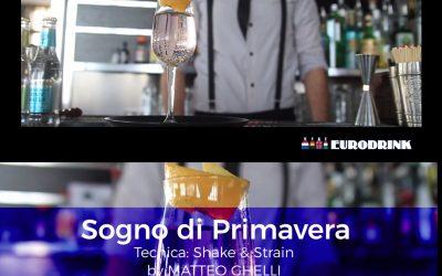 Sogno di Primavera Il drink di Matteo Ghelli per GUIDE by EURODRINK – location Victory Morgana Bay Sanremo –